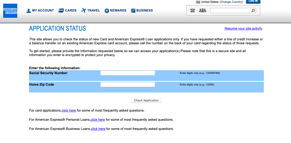 Check American Express Application Status