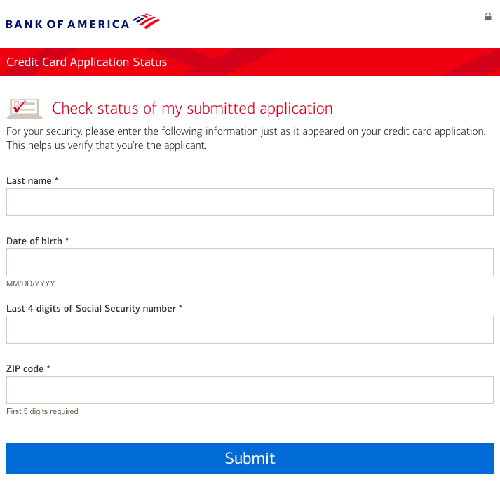 Bank of America Application Log In