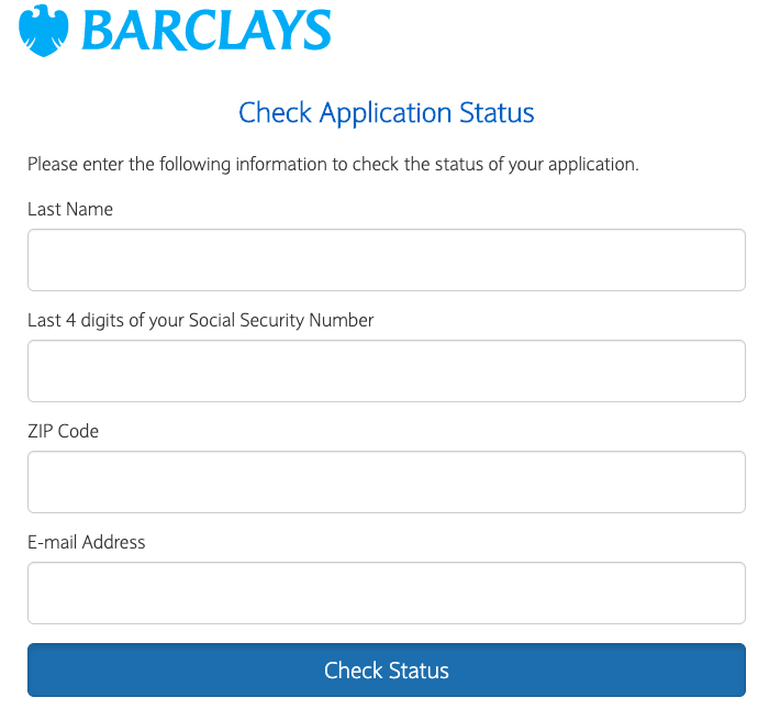 Barclays Application Status