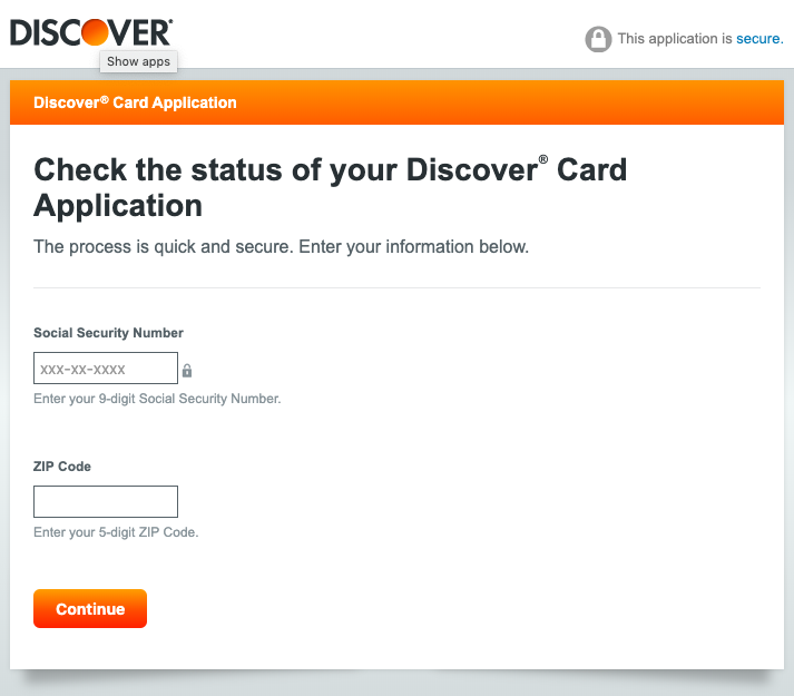 Discover Application Status