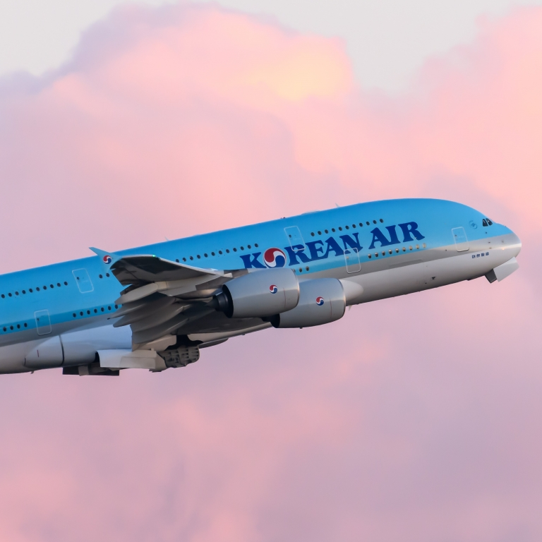 korean air sunset
